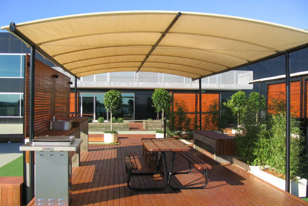 Barrel Vault Shade Structures Perfect Weather Protection