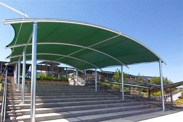Barrel vault shade structures perfect weather protection for Shade structures