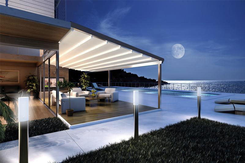 Retractable Roof Pergola - Retractable Roofs, Architectural Retractable Pergolas And Roof